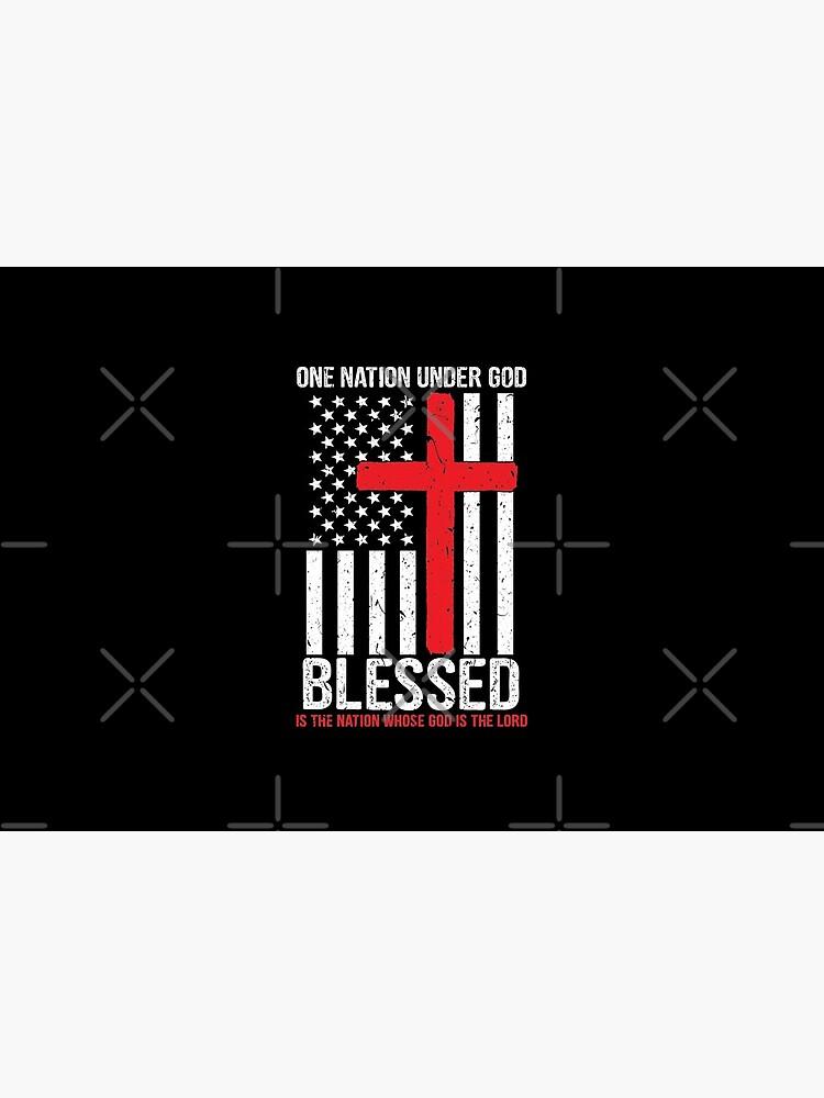 «Une nation sous Dieu bénit le drapeau américain patriotique» par tshirtexpressiv