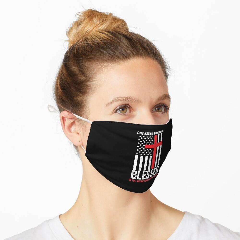 Masque «Une nation sous Dieu bénit le drapeau américain patriotique»
