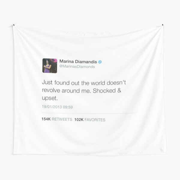 Marina and the Diamonds Tweet Tapestry Tapestry