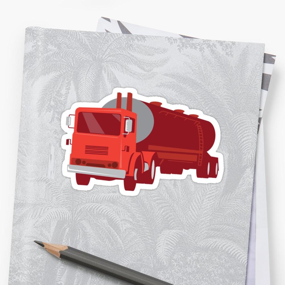 Tanker Cement Truck Retro by retrovectors