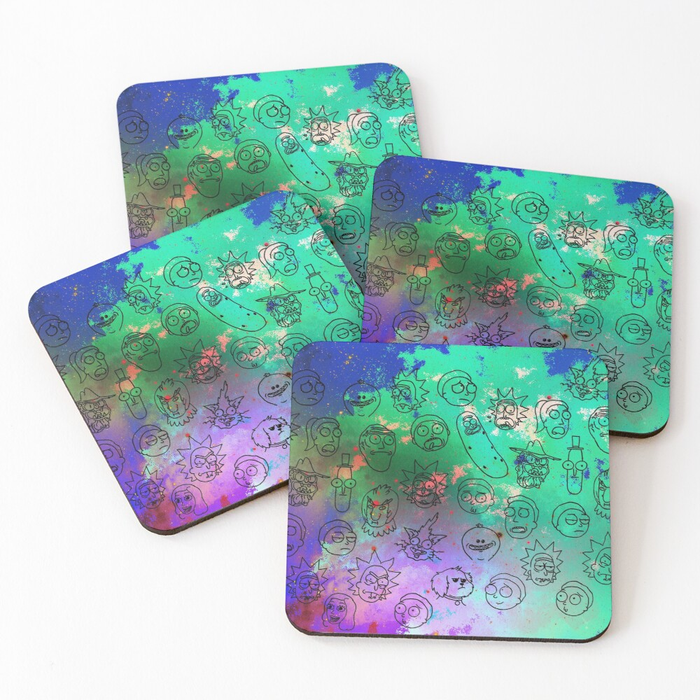 Faces Coasters (Set of 4)