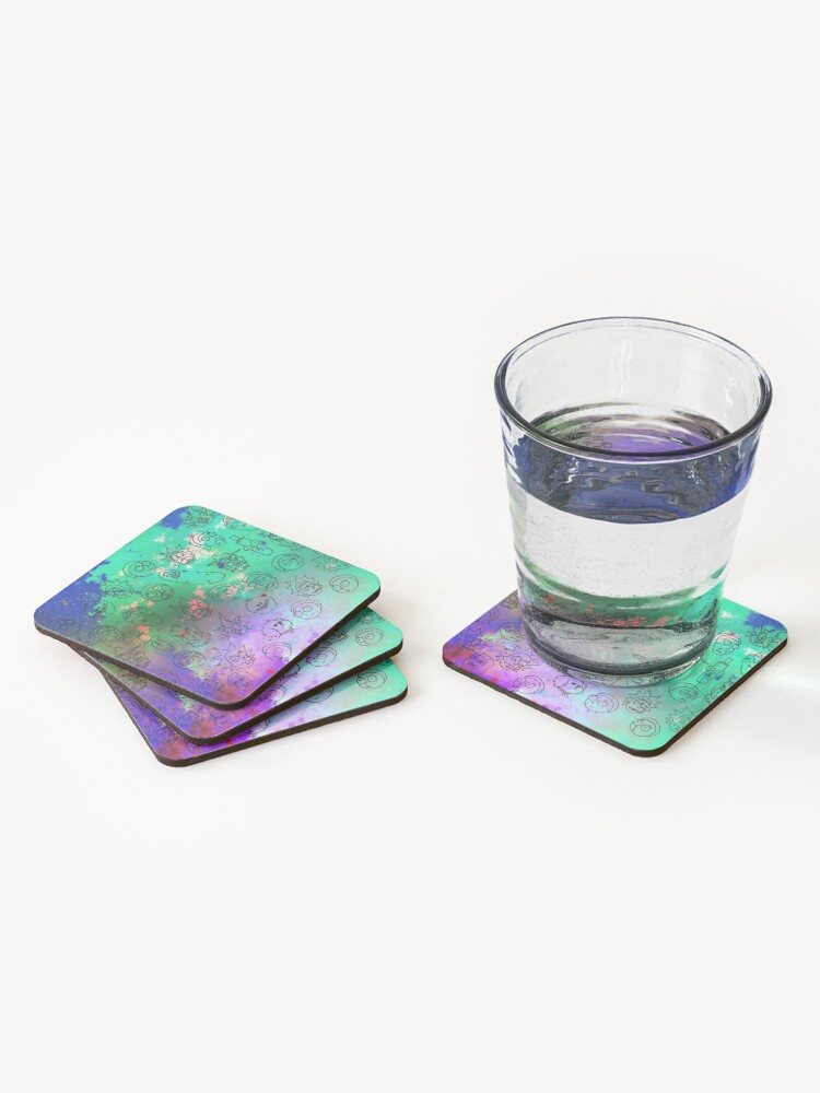 Alternate view of Faces Coasters (Set of 4)