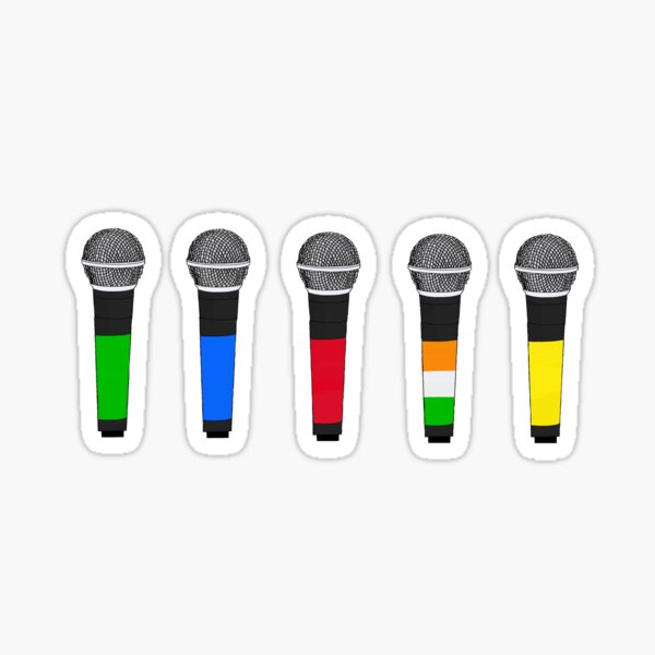 1d microphones Sticker