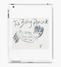 The Boring Peacock iPad Case/Skin