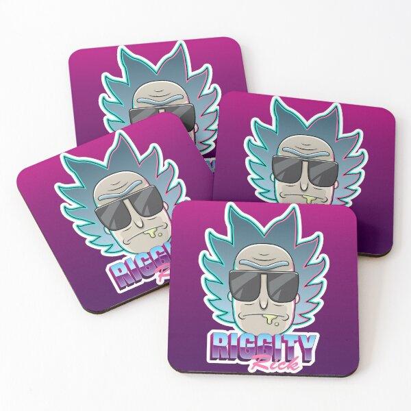 Riggity Rick Sanchez Art Coasters (Set of 4)