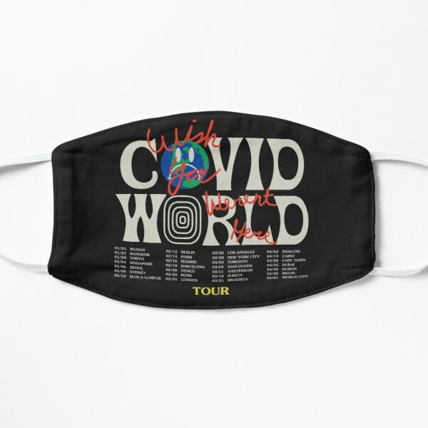 Travis Scott Astroworld Parody Covid World Tour Graphic Design wish you were here world tour cities Mask