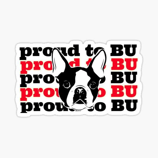 proud to BU red + black Sticker