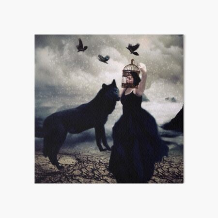 Dancing With the Black Dog Art Board Print