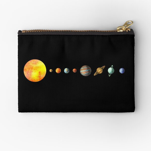 The Solar System Zipper Pouch