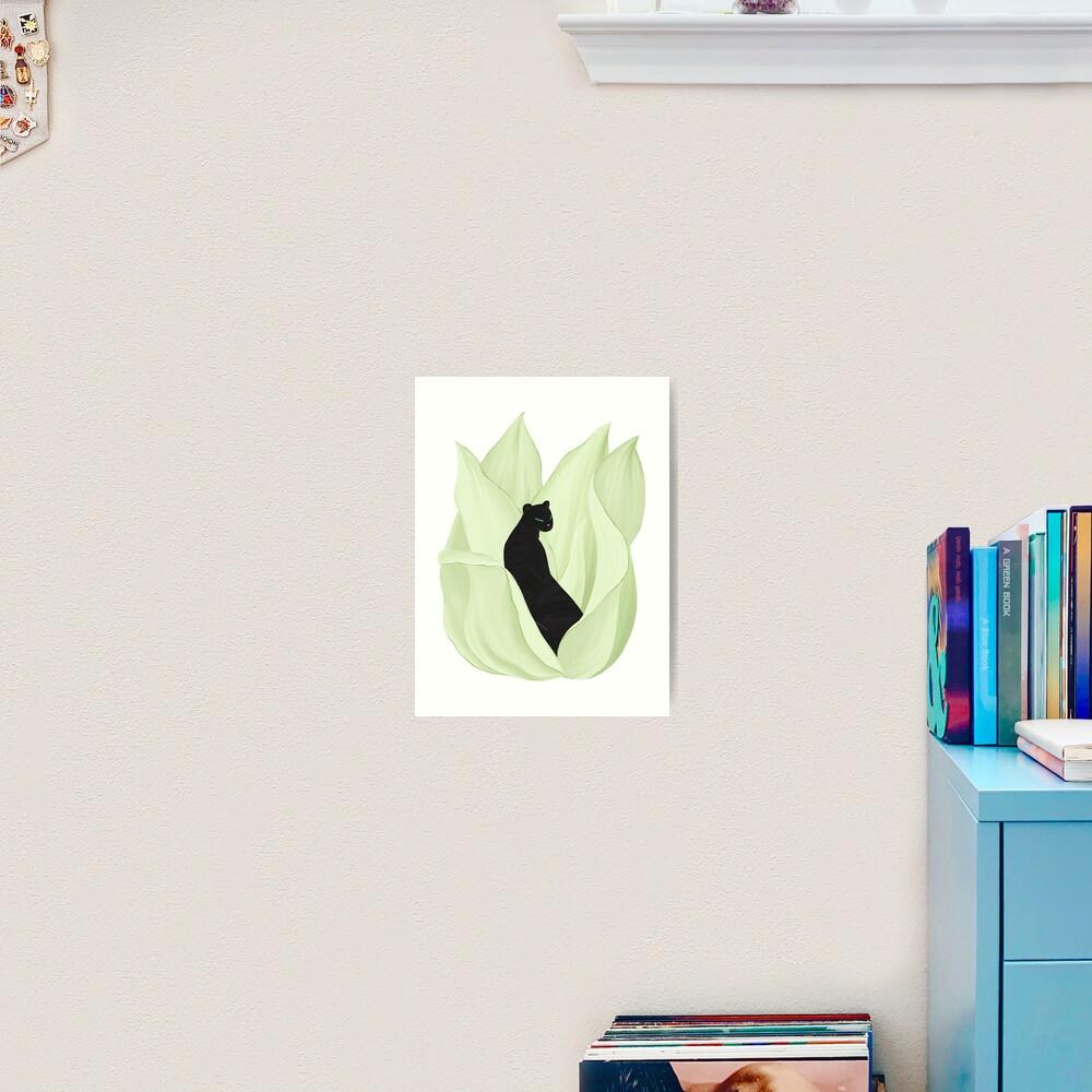 Black Panther in Sansevieria Art Print