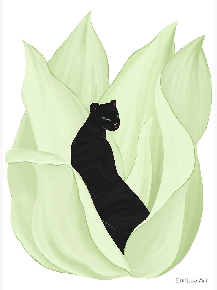 Black Panther in Sansevieria by sunleeart