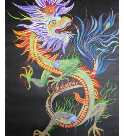 Bright and Vivid Chinese Fire Dragon Sticker