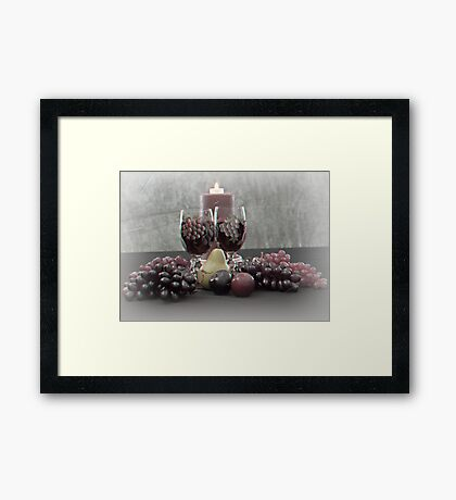 Hand Painted Glasses No. 3 Framed Print