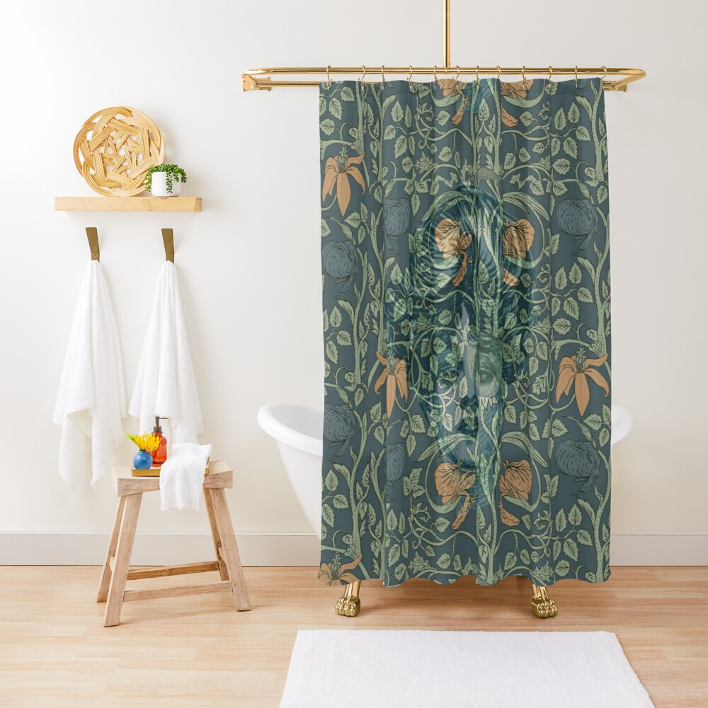 Ms. Gibson in Morris's Garden Shower Curtain