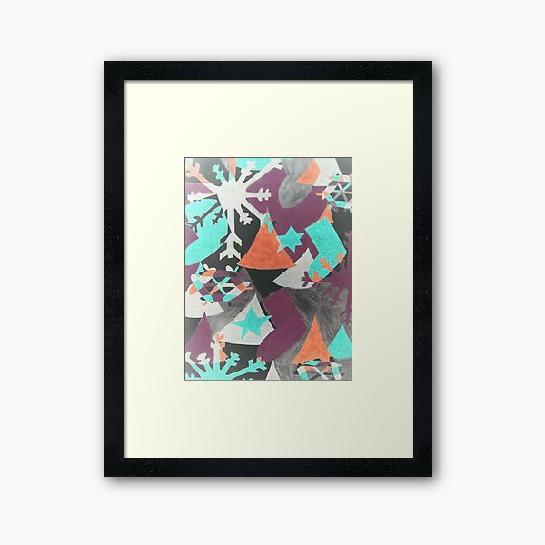 Christmas in Abstract Framed Art Print