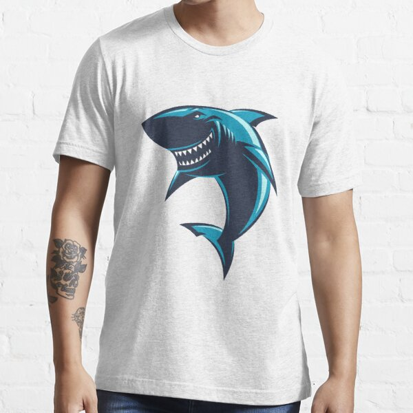 Funny Great Shark Artwork  Essential T-Shirt