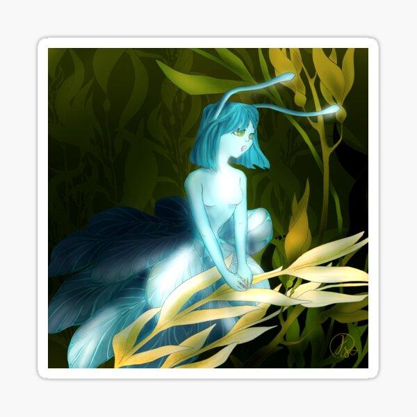Mermay - Aqua Sky - Pantone - Mermaid - Sea Slug - Cute Character Sticker