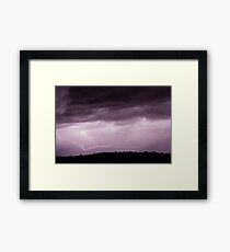 Lightning Across the Sky Framed Print