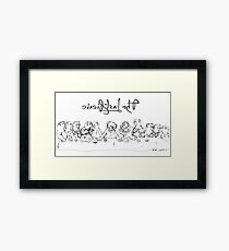 The Last Picnic Framed Print
