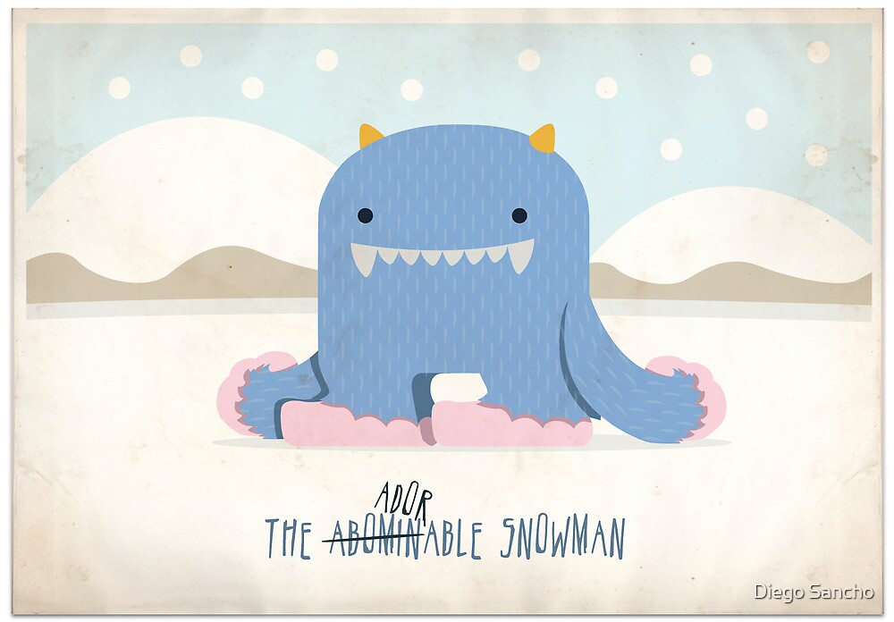 The Adorable Snowman by Diego Sancho
