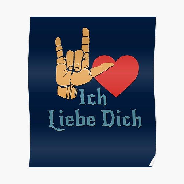 Ich Liebe Dich, Liebeszeichen, ich liebe dich auf Deutsch Poster