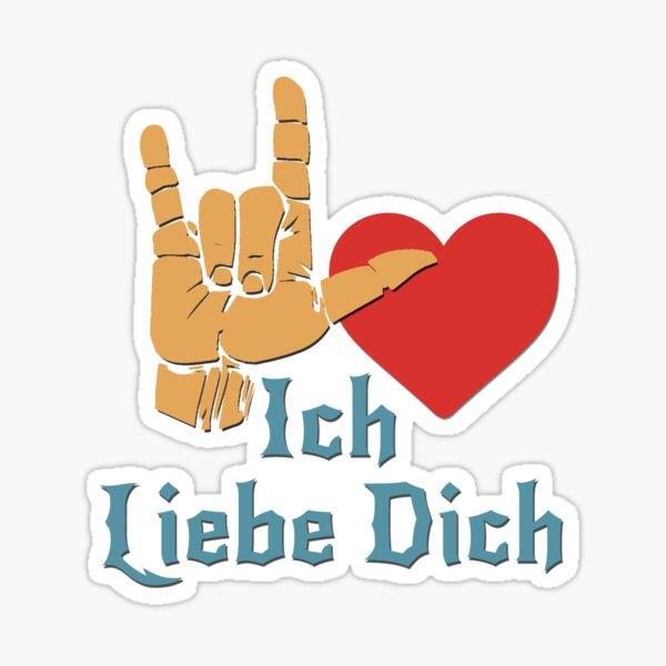 Ich Liebe Dich, Liebeszeichen, ich liebe dich auf Deutsch Sticker