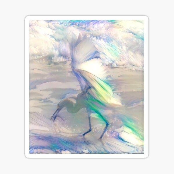 Egret Cloud Fusion Sticker