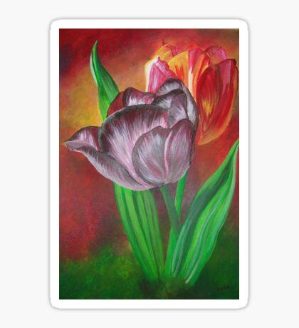 Two Tulips Sticker