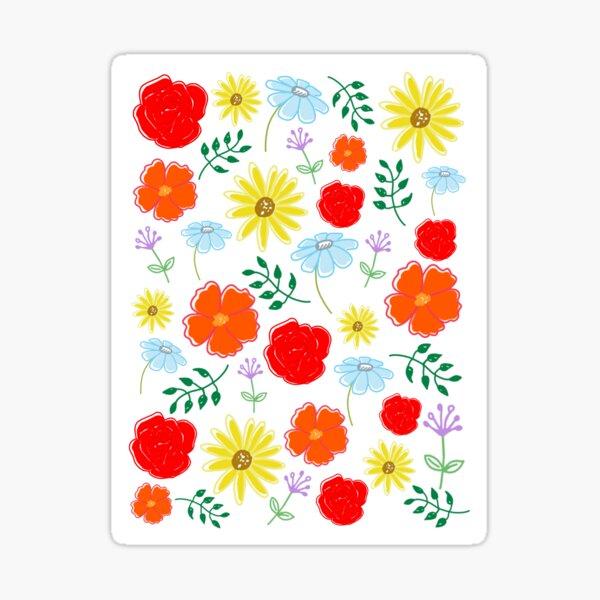 Bright flowers Sticker