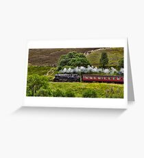 Steaming through the Moors Greeting Card