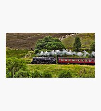 Steaming through the Moors Photographic Print