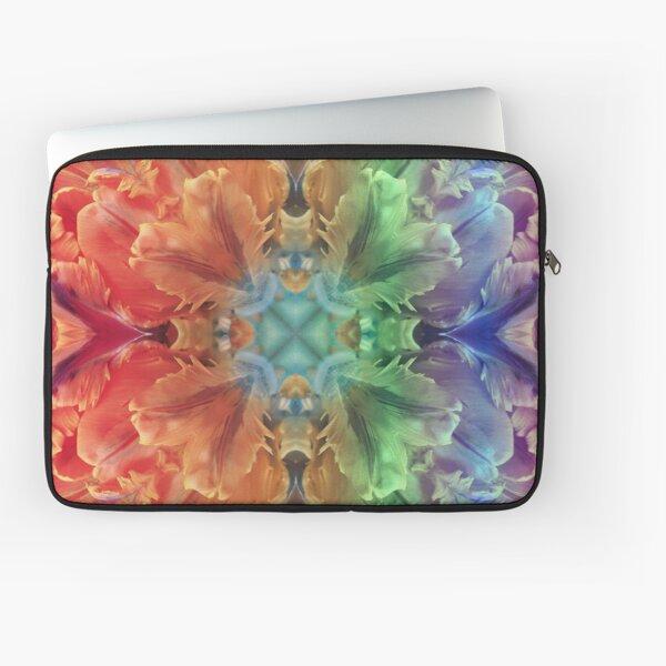 Gay Pride Floral Pattern Laptop Sleeve