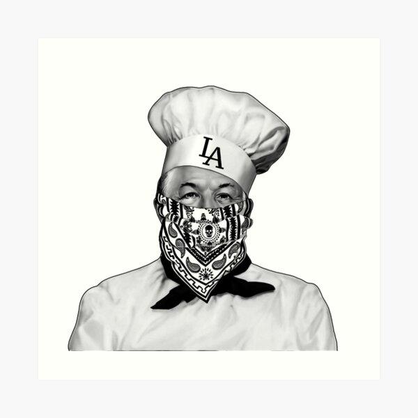 Chef Boyardee Bandana LA Art Print by ripmantgm  Redbubble