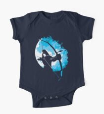 He walks at night... (Blue) Kids Clothes