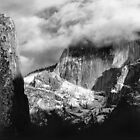 In the clouds, Half Dome, Yosemite, California by Pete Paul