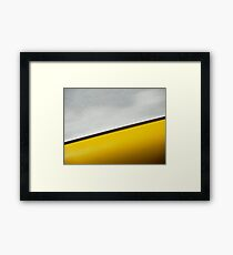 Yellow with a Chance of Rain Framed Print