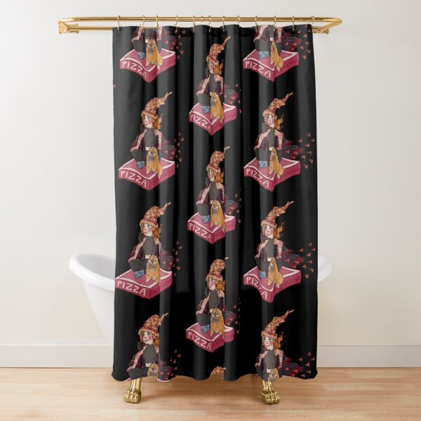 Pizza Witch Shower Curtain