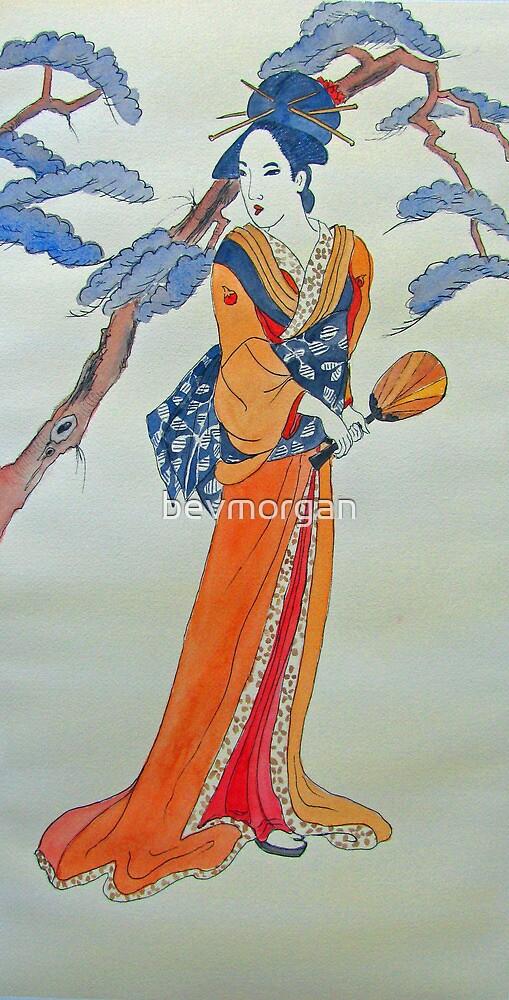 Woman with Fan by bevmorgan
