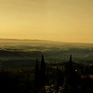 Tuscan dawn, panorama by Philip Teale