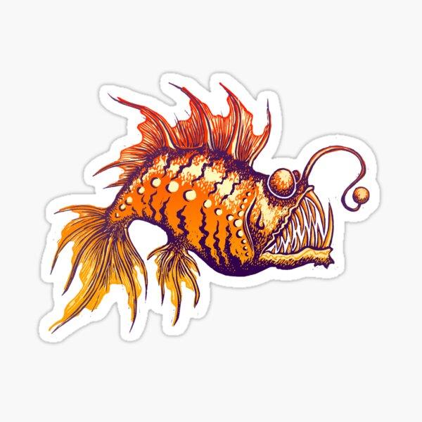 Angler Fish Print Sticker