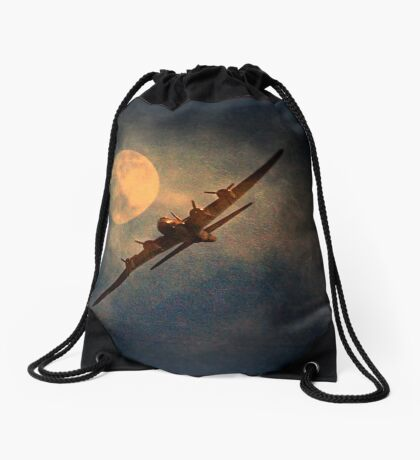 A Night Flight Drawstring Bag