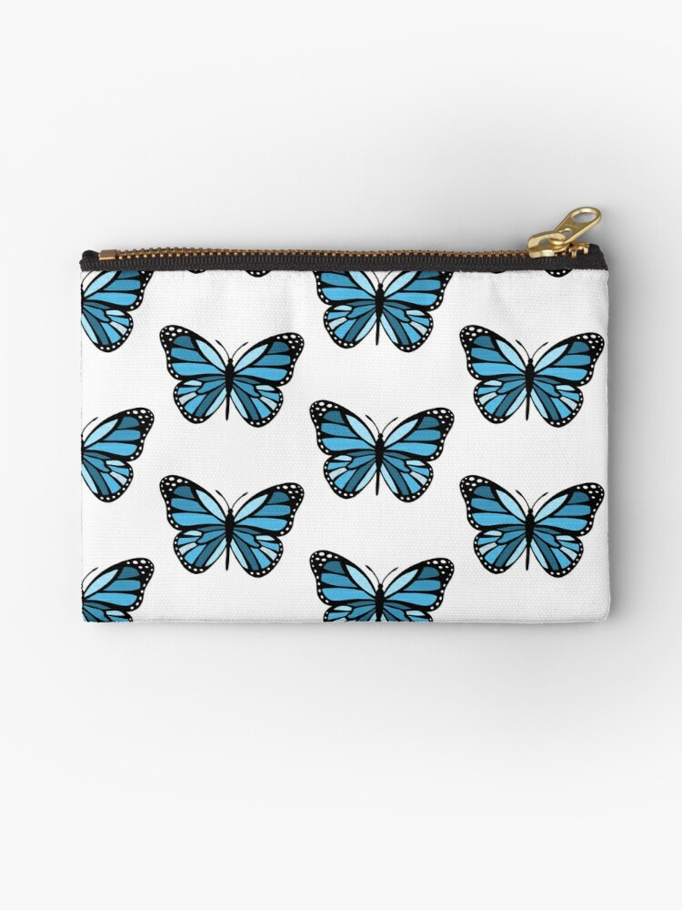 Small zipper pouch Butterfly pencil case