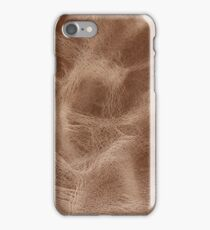 Brown old weathered leather iPhone Case/Skin