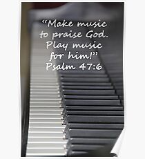 """""""Psalm 47:6""""  by Carter L. Shepard Poster"""