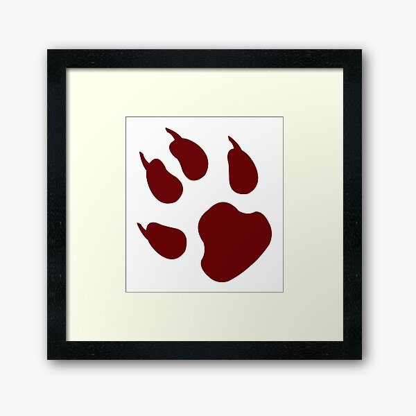T-shirt dog imprint Framed Art Print
