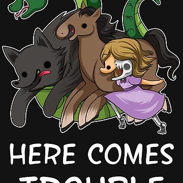 Here Comes Trouble (Text Version) by HappyArtistJenn