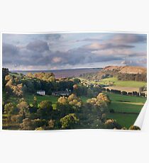 Hawnby hill. England. Poster