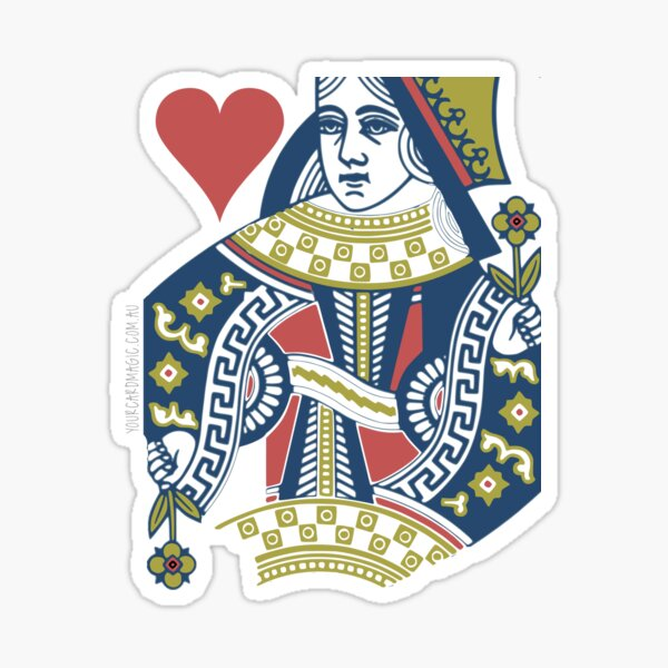 Playing Card - Queen of Hearts Sticker