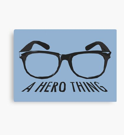 A super hero needs a disguise! Canvas Print