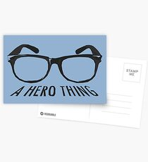A super hero needs a disguise! Postcards